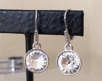 Swarovski Clear Crystal Drop Earring