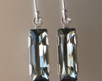 Black Diamond Swarovski Crystal Earrings