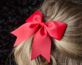 Hair Bow - Traditional Red Grosgrain Hairbow
