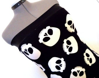 Skulls and Lace Tube Top Large XL