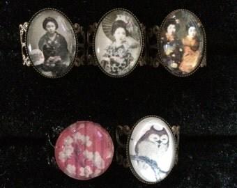 Geisha - Adjustable Filigree Ring Collection