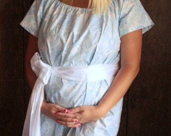 Maternity Hospital Gown in Swayzee- Perfect for Nursing and Skin to Skin - Choose Options - Ships Fast!