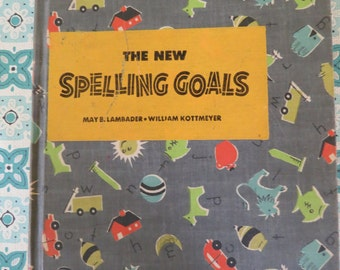 Very Cute and Worn Vintage Spelling Book 1955