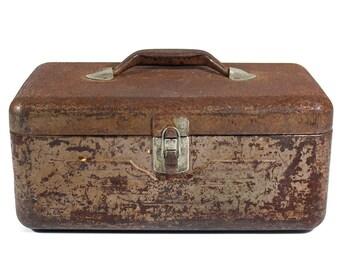 Rusty Vintage Tackle Box - Tool Box