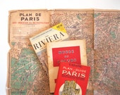 French Travel Materials from the 1950s and 1960s, Paris Map, Paris Travel Guide, Riviera Booklet, The Louvre, Collection