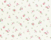 Princess Rose 2015   Cotton Fabric Lecien 31267-10 Small Roses on Cream