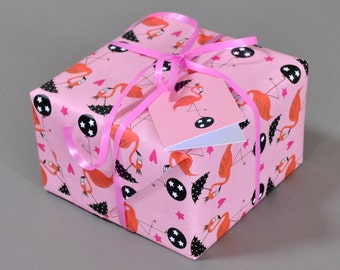 Pink Flamingos Gift Wrap / Pink Flamingos Wrapping Paper / Pink Gift Wrap / Pink Wrapping Paper