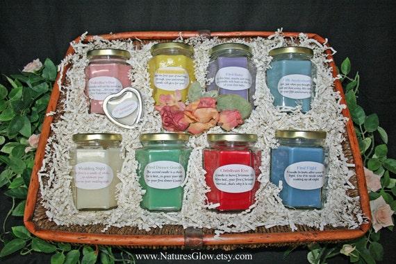 Candle Poem For Wedding Gift: Bridal Shower BASKET Candle Poem Wedding Shower Gift