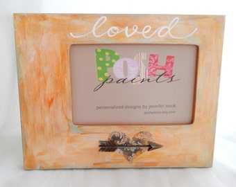 Sale! NEW loved-picture frame, gold faux, holds 4x6 photo