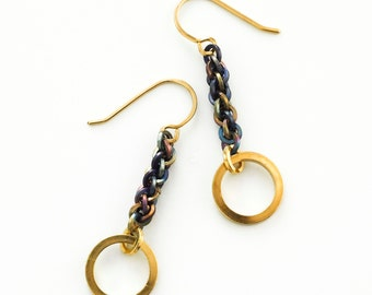 Lorraine Earrings in 14kt Gold Filled and Titanium