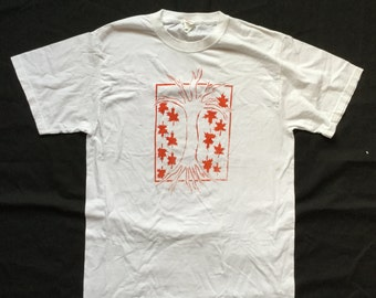 Maple Tree screen print tee- IRREGULAR