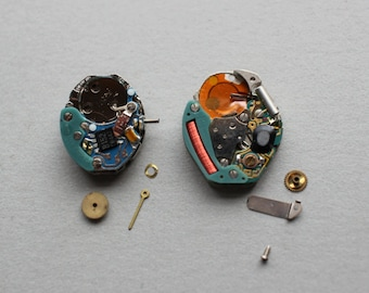 Vintage Battery Watch Movements With Tiny Parts BW2