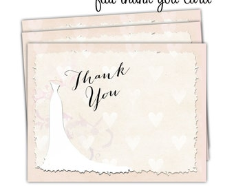 10 - Thank You Note Cards/Flat Thank You Cards/Folded Thank You Cards/Flat Notecards/Folded Notecards