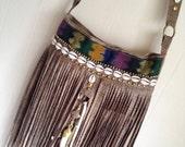 Reserved for Tash- Calypso Fringe Bag--- hippie bohemian gypsy crossbody