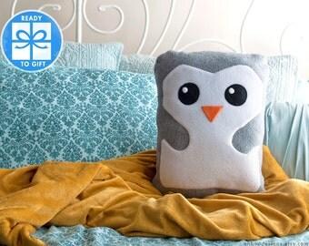 Grey Decorative Pillow - Gray Penguin Pillow - Home Decor - Bird Shaped Pillow - Gift for Children - Baby Room Decor - Cute Gift Ships Fast!