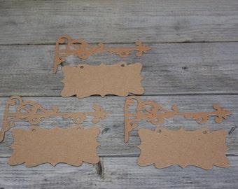 Chipboard Die Cut Sign Posts