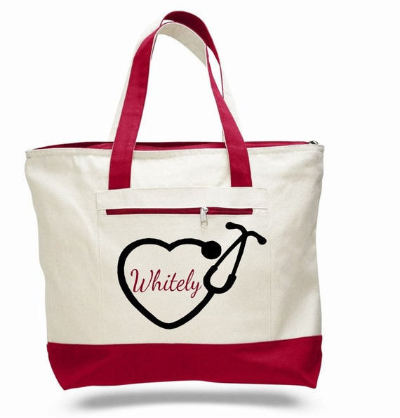 bag nursing tote personalized bag pinning