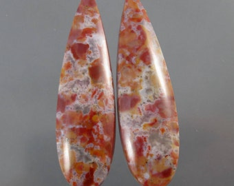 Old Stock Vanquilla Agate Cabochon Matched Pair SALE 60% OFF