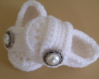 Baby Girl Shoes, Baby Loafers, Crochet Booties, Baby Slippers, Sizes Newborn to 18 months, Many Colors Available
