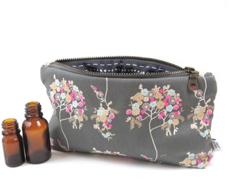 Essential Oil Case - Cherie - cosmetic bag zipper pouch essential oil bag travel bag