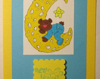 Yellow New Baby Card