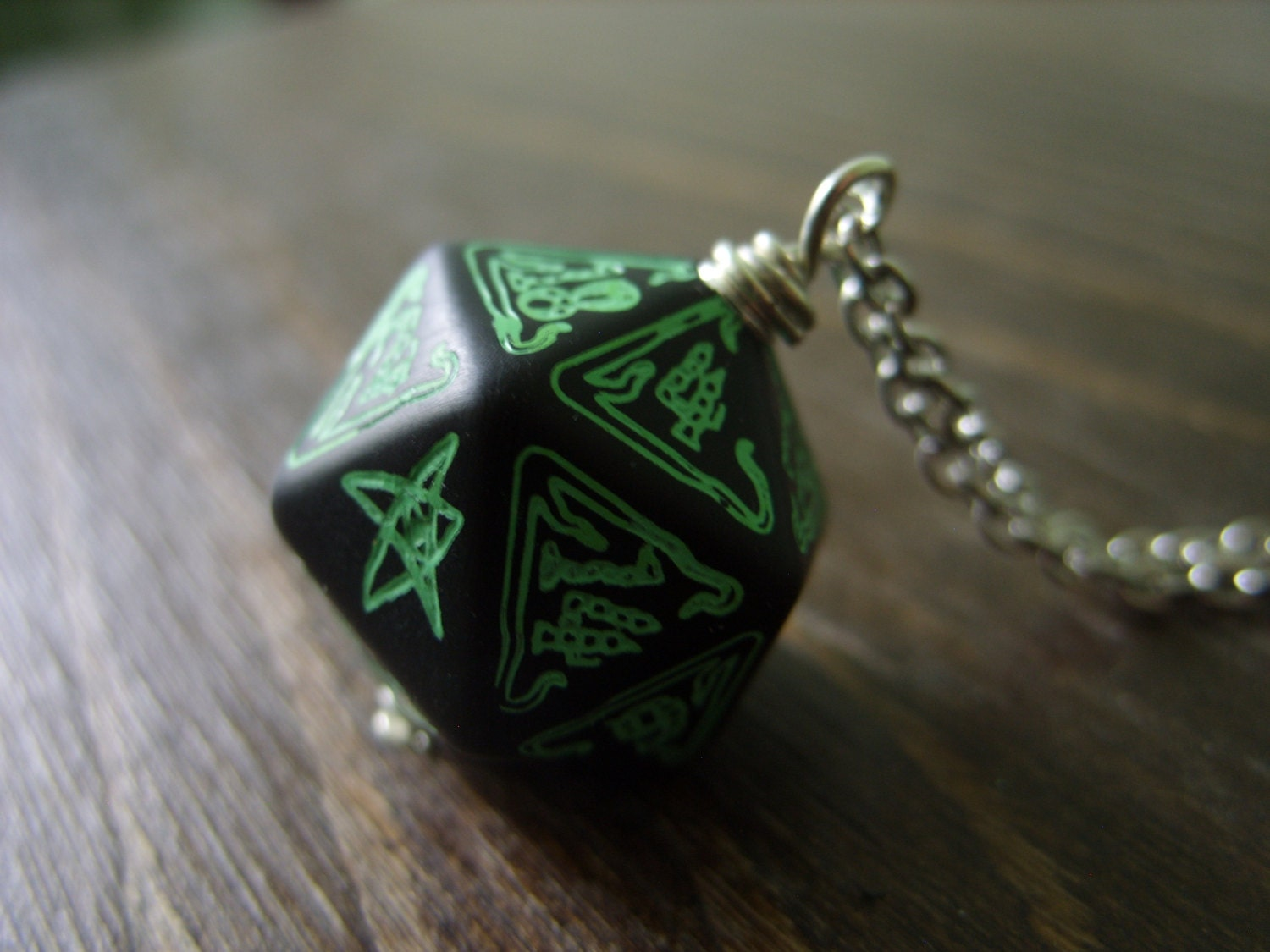 call of cthulhu necklace d20 dice necklace dungeons and