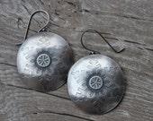 SALE Sterling Silver Snowflake Earrings Handmade  Free Priority Shipping in US