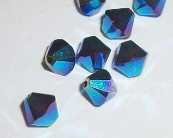 Clearance - 6mm Swarovski Crystal Beads 6mm BICONE style 5301 Crystal Beads MOCCA AB2X  -- 12 pieces