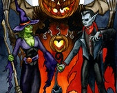 The Halloween Lovers Original Painting by Chad Savage