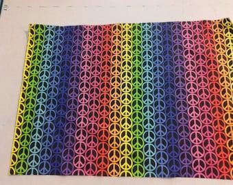 Rainbow Peace Sign Fabric  245322