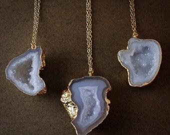 50% OFF Gold Geode Necklaces - Choose Your Geode - 14K Gold Filled
