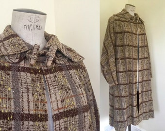 r e s e r v e d 1930s coat Incredible sporty coat in nubby textured plaid M-L