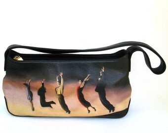 vintage icon los angeles painted hand bag  ...    surrealistic black leather bag   ...   classic  ...   abstract ...  unusual   ...   iconic