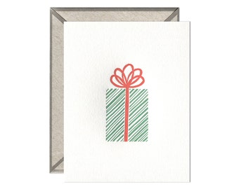 Christmas Gift letterpress card - single