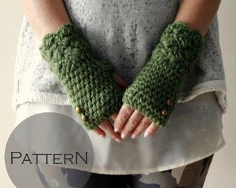 Crochet Pattern, Womens Fingerless Gloves Pattern, Crochet Fingerless Gloves Pattern, DIY Fingerless Gloves