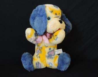 Knickerbocker dog plush stuffed animal vintage animals of distinction floral puppy toy