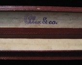 Antique Bracelet Box, Alex & Co. Skinny Burgandy Cardboard Box