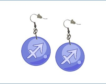 Zodiac Earrings Sagittarius Dangle Earrings Astrology Earrings Zodiac Symbol Sagittarius