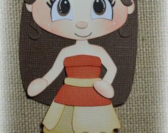 Disney Princess Moana Premade Scrapbooking Embellishment Paper Piecing