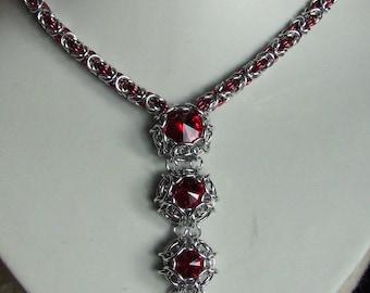 Chainmaile & Swarovski Necklace