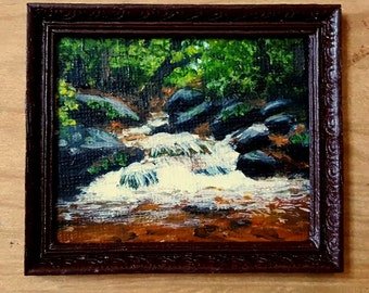 1:12th Miniature Acrylic Painting Pacolet River North Carolina