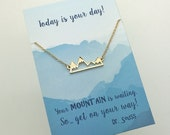 Silver or Gold Mountain Necklace - Silver or Gold Bar Mountain Necklace - choose carded your mountain is waiting or in a silver gift box