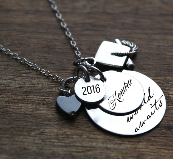 graduation necklace personalized graduation by. Black Bedroom Furniture Sets. Home Design Ideas
