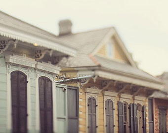 """New Orleans Photography """"Row of Creole Cottages"""" - architecture, french quarter, home decor wall art - New Orleans Art -  photograph"""