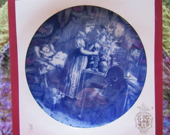 Beautiful Blue and White Bareuther German 1981 Christmas Plate