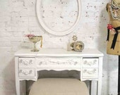 Painted Cottage Chic Shabby Romantic Vanity VAN708