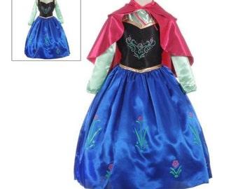 New Fozen Anna Inspired Costume Birthday girl toddler princess dress size  4 6 8
