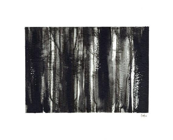 minimalist painting print: Close Grown