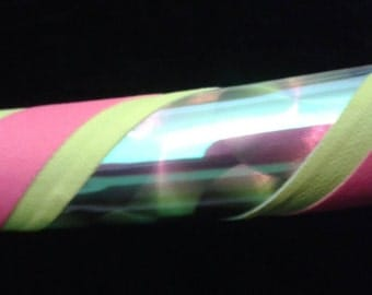 Hula Hoop - Opal Dragon Scale, Yellow and Hot Pink