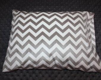 "Gray Chevron Small Pillowcase- Soft N Comfy Pillowcase for 12""x16"" Pillow - Toddler Pillowcase- Chevron Pillowcase- Nap Mat- Travel Pillow"